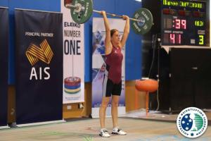 Maree Davidson: Masters Lifter lifting the Australian Record :)